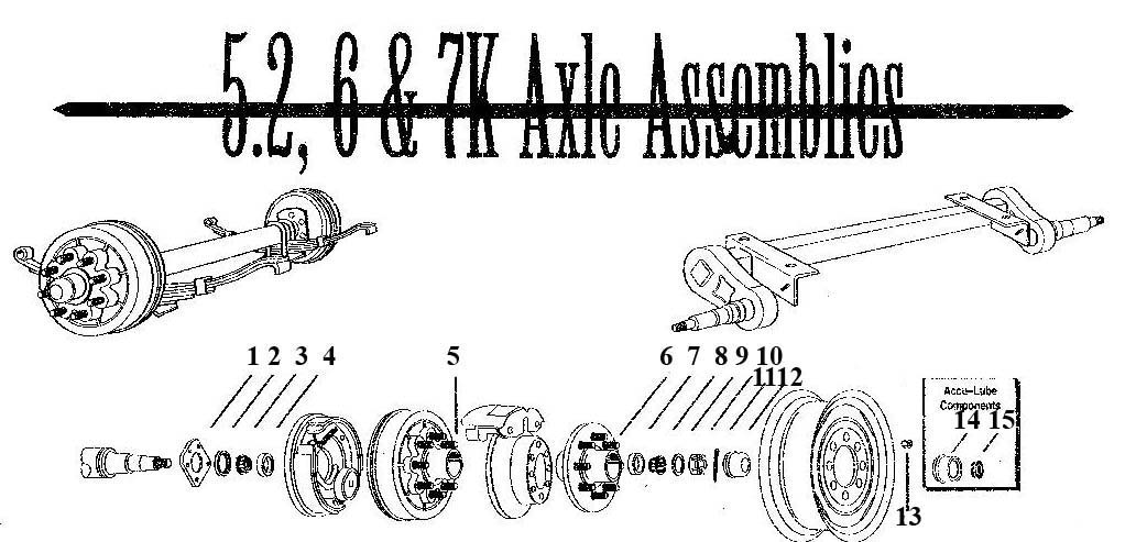 trailer wheel bearing diagram detail