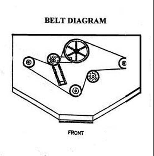 woods finish mower belt diagram