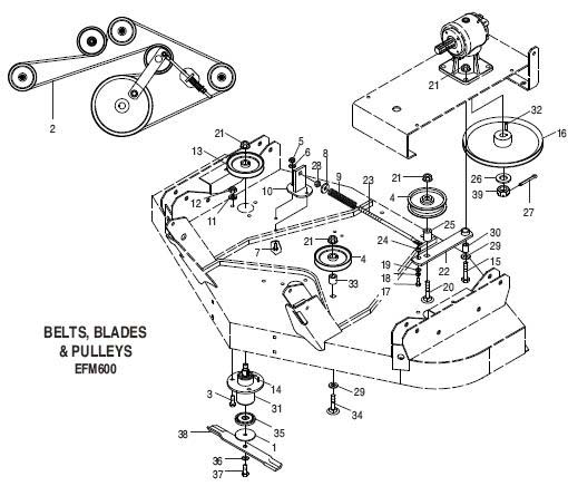 Woods Rm550 Mower Parts Catalog