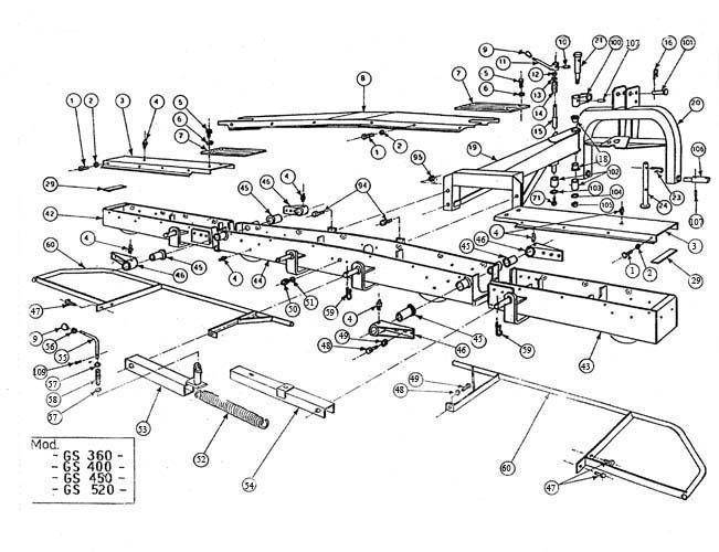 gearbox for bush hog mower diagram