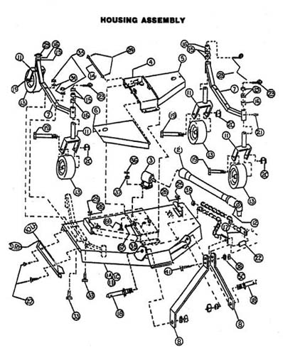 woods finish mower parts diagram
